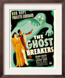 Ghost Breakers, Paulette Goddard, Bob Hope on Window Card, 1940 Prints