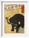 Imported Elephant Art by Yoshiiku Ochiai