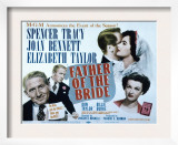 Father of the Bride, Spencer Tracy, Elizabeth Taylor, Joan Bennett, 1950 Posters