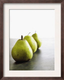 Traveling Pears in Green Poster