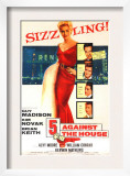 Five Against the House, with Kim Novak, Guy Madison, Brian Keith, Kerwin Mathews, Alvy Moore, 1955 Print
