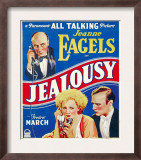 Jealousy, Jeanne Eagels, Fredric March on Window Card, 1929 Posters