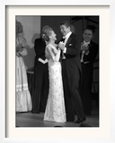 President Ronald Reagan and His Wife Framed Photographic Print