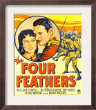 Four Feathers, Fay Wray, Richard Arlen on Window Card, 1929 Prints