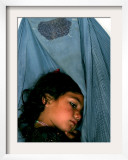 Afghan Mother Nagis Embraces Her Daughter Framed Photographic Print