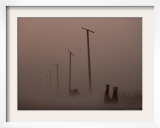 Afghan Kuchi Nomads Women Carry Water to Thier Camp at Dusk Framed Photographic Print