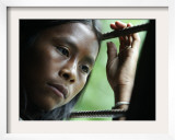 A Arhuaco Child Looks out a Window Framed Photographic Print