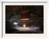 Olympic Flame is Lit During the Opening Ceremony for the Vancouver 2010 Olympics Framed Photographic Print