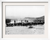 Members of the Northern Cheyenne Tribe of Montana's Tongue River Indian Reservation Framed Photographic Print