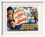 Down to the Sea in Ships, Lionel Barrymore, Dean Stockwell, Richard Widmark, 1949 Posters