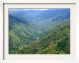 Peru's Monzon River Valley Shows a Patchwork of Coca Fields Framed Photographic Print