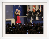 Vice President Joe Biden and His Wife Jill Dance at the Biden Home States Ball in Washington Framed Photographic Print