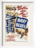 Navy Blues, Ann Sheridan, Jack Haley, Jack Oakie, Martha Raye on Midget Window Card, 1941 Print