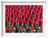 Security Personnel March at the Republic Day Parade in New Delhi, India, Friday, January 26, 2007 Framed Photographic Print by Mustafa Quraishi