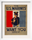 The U.S. Marines Want You, circa 1917 Prints by Charles Buckles Falls