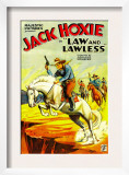 Law and Lawless, Jack Hoxie, 1932 Posters