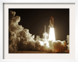 Space Shuttle Discovery Lifts-Off from the Kennedy Space Center at Cape Canaveral, Florida Framed Photographic Print