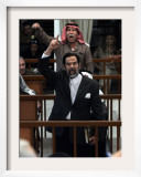 Former Iraqi President Saddam Hussein Berates the Court During their Trial in Baghdad Framed Photographic Print