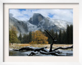 Half Dome is Seen with a Fresh Dusting of Snow in Yosemite National Park, California Framed Photographic Print