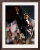 President-Elect Barack Obama Walking onto Stage to Deliver Acceptance Speech, Nov 4, 2008 Framed Photographic Print