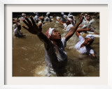 Voodoo Believers Perform a Ceremony at a Sacred Pool in Souvenance, Haiti Framed Photographic Print