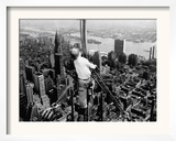 Construction for the Empire State Building's New 217 Foot Multiple Television Tower Framed Photographic Print