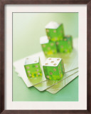 Green Dice and Cards Posters