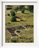 13th Century Tyuonyi Pueblo Ruins Framed Photographic Print by Pat Vasquez-cunningham