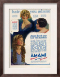 Amami Shampoos, Magazine Advertisement, UK, 1920 Posters