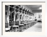 The Locker Room of the Brooklyn Dodgers Framed Photographic Print