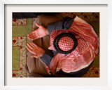 Man Prays at At Sunni Muslim Um Al-Qura Mosque in Baghdad, Iraq Framed Photographic Print