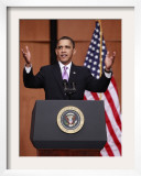 President Obama Speaks before Signing the Health Care and Education Reconciliation Act of 2010 Framed Photographic Print