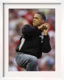 President Obama Winds Up to Throw Out the First Pitch During the MLB All-Star Baseball Game in St. Framed Photographic Print