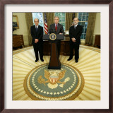 President Bush Names Ben Bernanke to Become the New Chairman of the Federal Reserve Board Framed Photographic Print