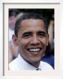 Barack Obama, Concord, NH Framed Photographic Print