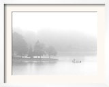 A Fisherman Fishes off the Point of a Peninsula Framed Photographic Print