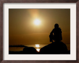 Sunset over the Baltic Sea at Heidkate, Germany Framed Photographic Print by Heribert Proepper