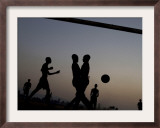 People Play Soccer at a Camp Set Up for Earthquake Survivors Left Homeless in Port-Au-Prince Framed Photographic Print