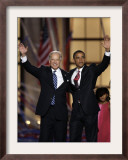 Barack Obama and Joe Biden at the Democratic National Convention 2008, Denver, CO Framed Photographic Print