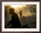 An Afghan Street Sweeper Framed Photographic Print
