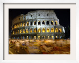 Runners Make Their Way Past the Colosseum in Rome Framed Photographic Print