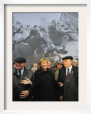 Former Soviet Leader Mikhail Gorbachev and Others During the Commemorations of Fall of Berlin Wall Framed Photographic Print