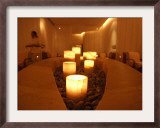 Candle Lighting Luminates the Spa Framed Photographic Print