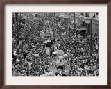 Mardi Gras Revelers Gather at St. Charles Street Framed Photographic Print