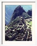 The the Inca Citadel of Machu Picchu Framed Photographic Print