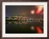 Beijing Olympics Opening Ceremony, Bird's Nest, Beijing, China Framed Photographic Print