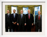 President-elect Barack Obama with All Living Presidents, January 7, 2009 Framed Photographic Print