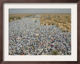 Thousands Kneel for Prayers Framed Photographic Print