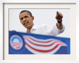 Barack Obama Speaking, Greensboro, NC Framed Photographic Print