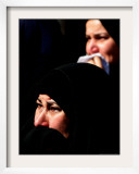 Relatives Grieve at the Funeral Framed Photographic Print